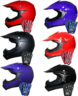 /& Goggles Leopard LEO-X15 Black Kids Motocross Motorbike Helmet M 6cm M 51-52cm /& Gloves S 5-6Yrs Kids CAMO Motocross 1PC Suit