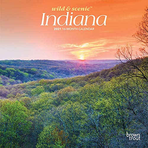 Indiana Wild & Scenic 2021 7 x 7 Inch Monthly Mini Wall Calendar, USA United States of America Midwest State Nature