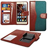 N4U Online® Green Clip On Dual Fibre Book Wallet Case