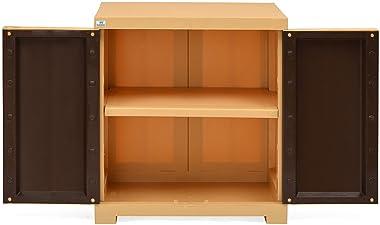 Nilkamal Freedom Mini Small Plastic Cabinet Brown , 2 Doors