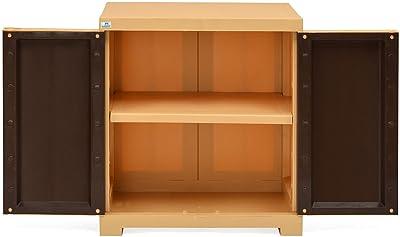 Nilkamal Freedom Mini Small Plastic Cabinet Brown