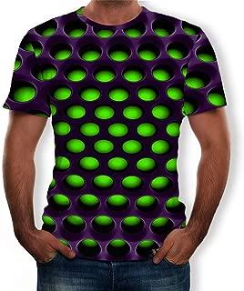 EUZeo Herren 3D Hässlich Gedruckt Kurzarm T-Shirts Sommer Casual Tees Tops Kurzärmelig Rundausschnitt Party Shirts Streetswear Hemden