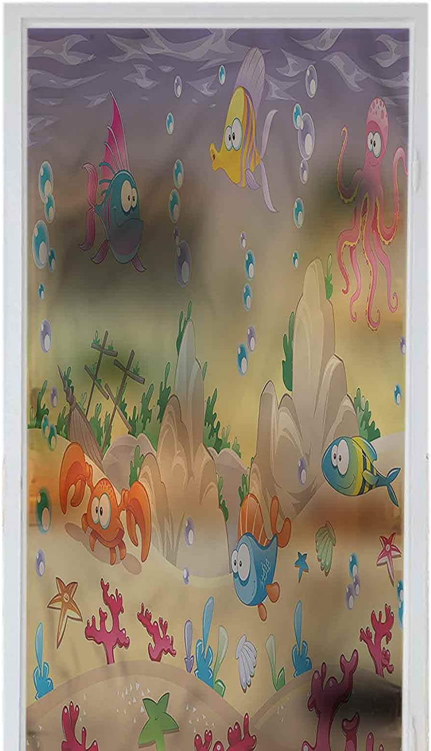 Stickers Bombing new work PVC Home Privacy Decor 35 New item Kids Cartoon Funny Underwater
