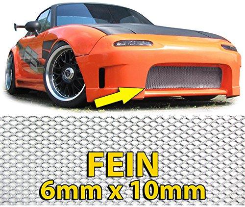 Carparts-Online 26433 Alu Gitter Renngitter Wabengitter Racegitter 135X30cm silber fein