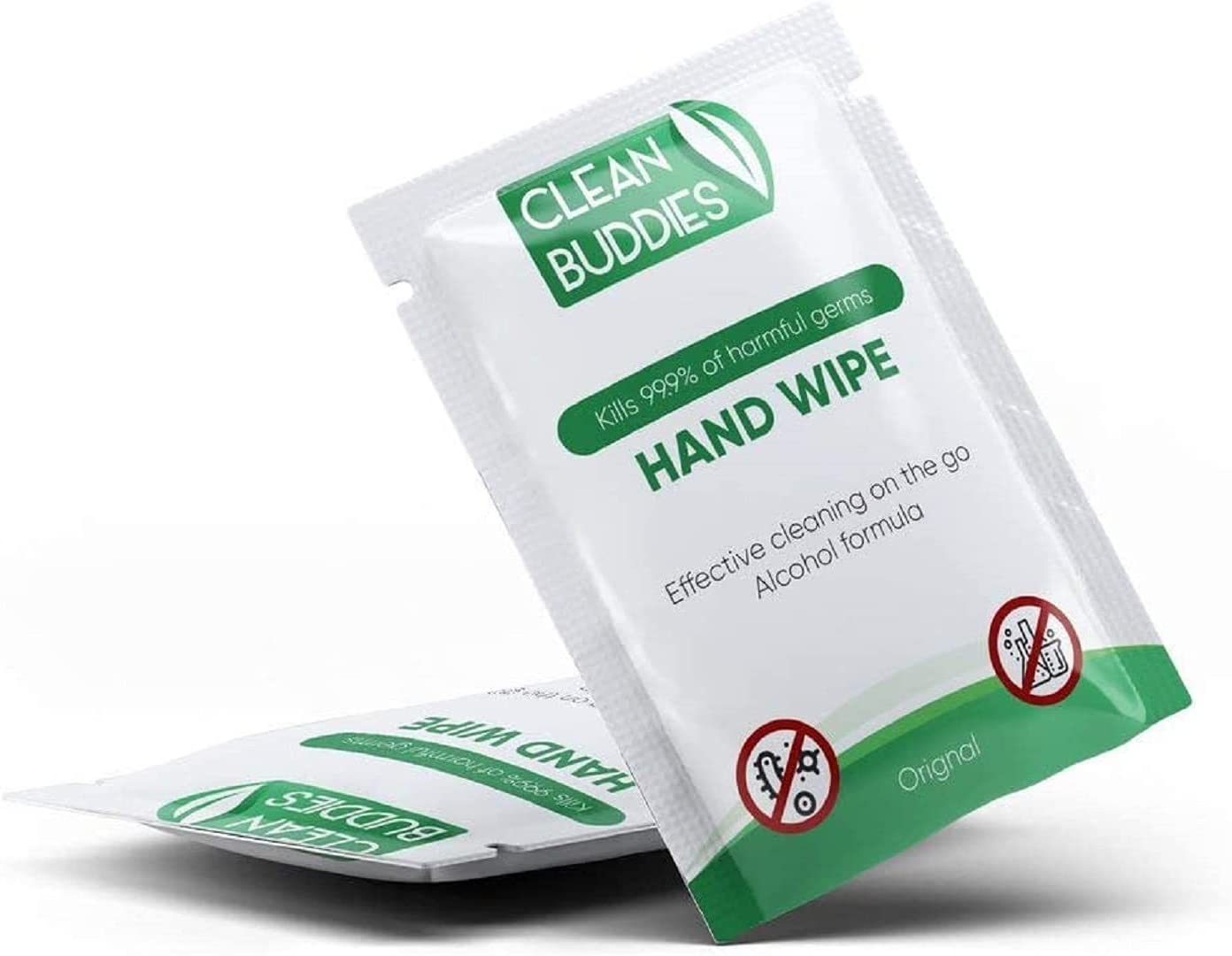 Clean Buddies Hand Sanitizing Wipes Individually Wrapped for Advanced Defense, 50 Pack – Unscented Individual Hand Sanitizer Packets Travel Size – Hand Wipes Individually Wrapped: Health & Personal Care