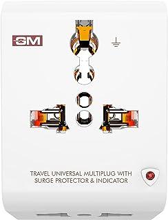 GM 3012 3 Pin Travel Universal Multi-Plug with Surge Protector & Indicator