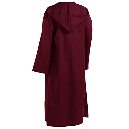 Men Hooded Robe Cloak Knight Fancy Cool Cosplay Costume c5ffd2524