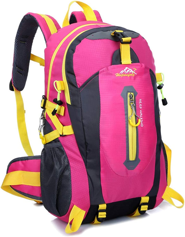 40L Waterproof Hiking Backpack, Large Trekking Rucksack Travel Daypack for Men Women Outdoor Camping Mountaineering Trekking Cycling Skiing,Pink