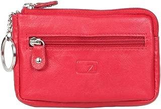 Zoomlite - Boston ZL104 Leather Zip Key Holder - Red