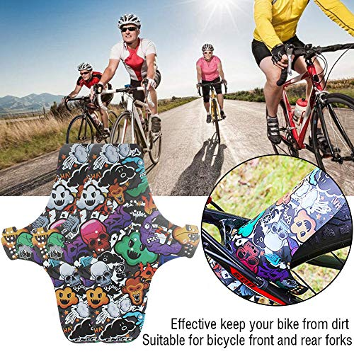 BESLIME 2Pcs Mudguards for Bikes, Bike Fender, MTB Mud Guard Front or Rear Compatible Fits 650B 20
