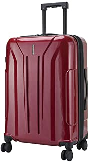 "SRY-Luggage PC Material Simple Trolley Case, Zippered Luggage Case, Roller Walking Scroll Box, 20"" 24"" Inches Durable Carry on Luggage (Color : Red, Size : 24inch)"