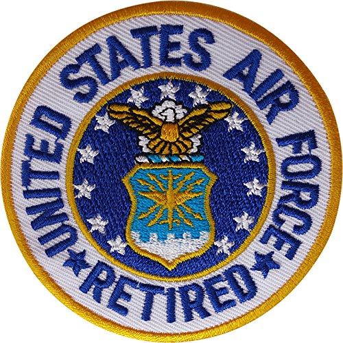 Écusson brodé à thermocoller ou à coudre - Motif retraite de l'armée de l'air des États-Unis