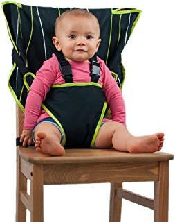 The Original Easy Seat Portable High Chair (Black) - Quick, Easy, Convenient Cloth Travel High Chair Fits in Your Hand Bag...