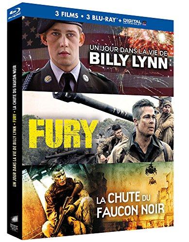Coffret : Un jour dans la vie de Billy Lynn + Fury + La Chute du Faucon Noir [Blu-ray + Copie digitale]