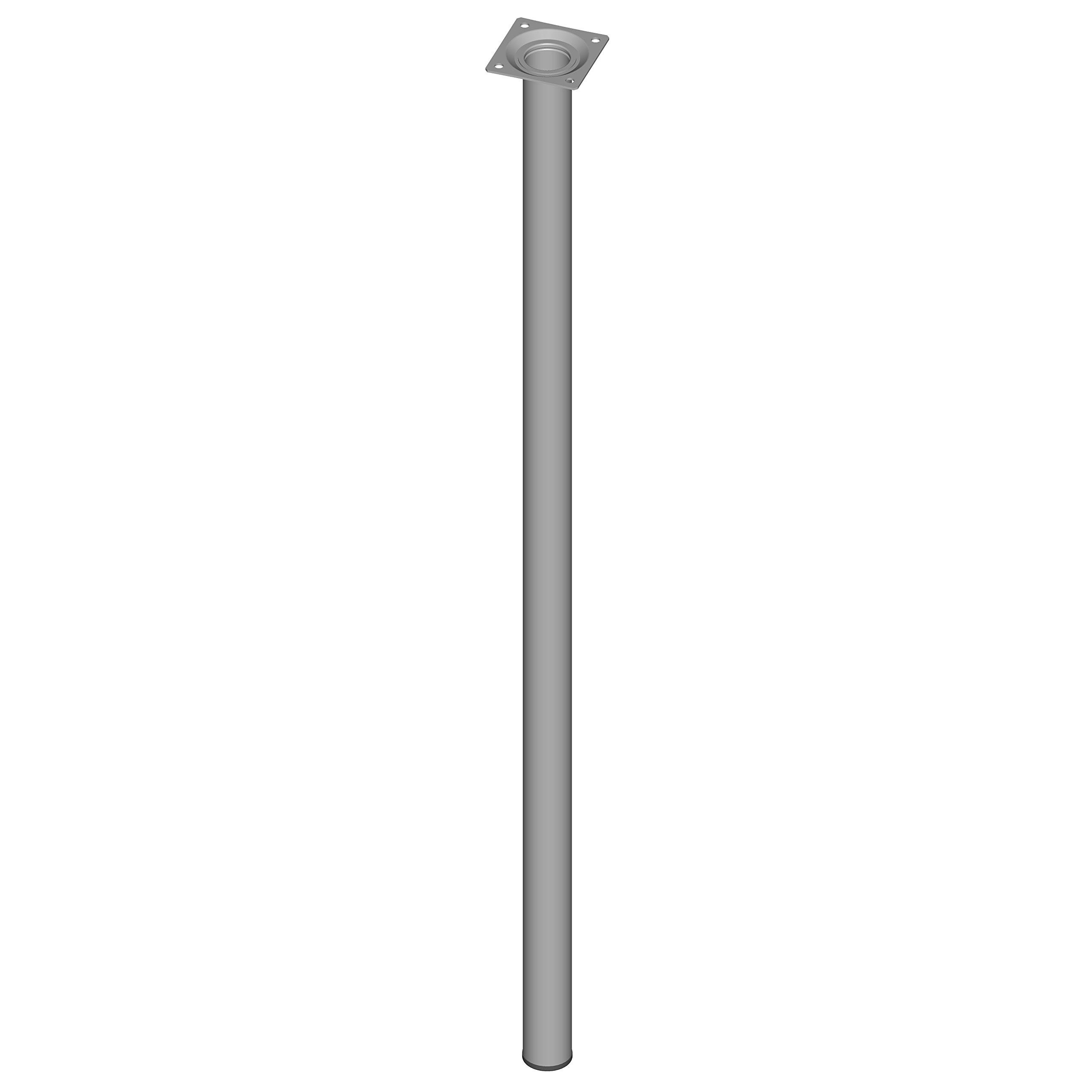 Element System 11100-00085 Pie para muebles aluminio blanco 75 cm