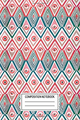 Composition Notebook: Landscapes Ethnicity Tribal Patterns Wide Ruled Note Book, Diary, Planner, Journal for Writing