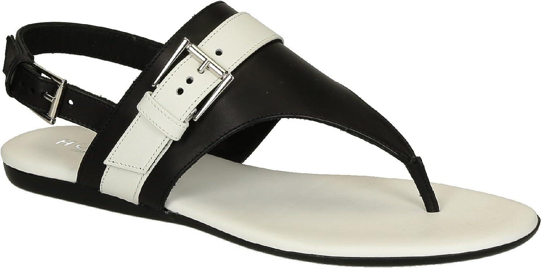 Hogan Women's Leather Flat Sandals shoes