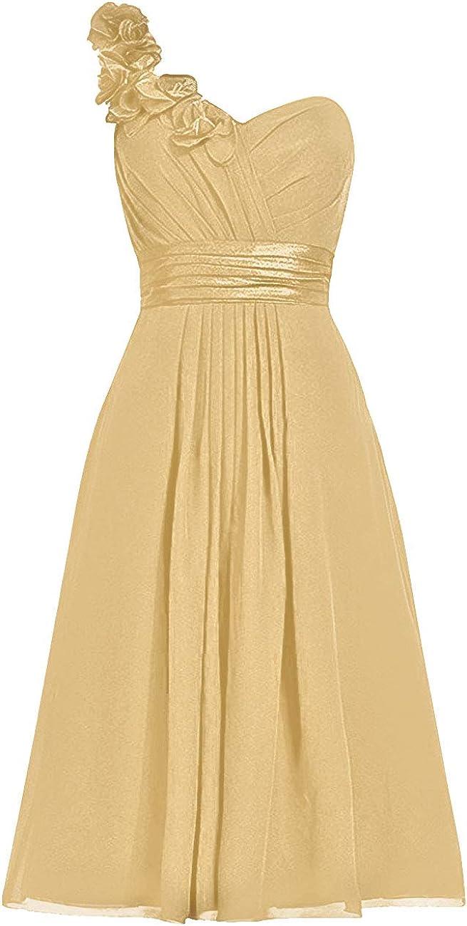 受賞店 Bridesmaid Dresses Short Evening Prom Bridesm Dress 贈り物 Shoulder One