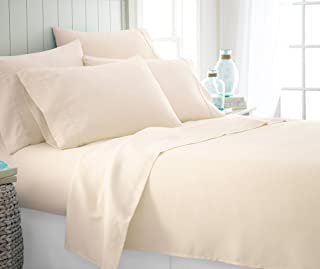ienjoy Home 6 Piece Bed Sheet Set, FULL, IVORY