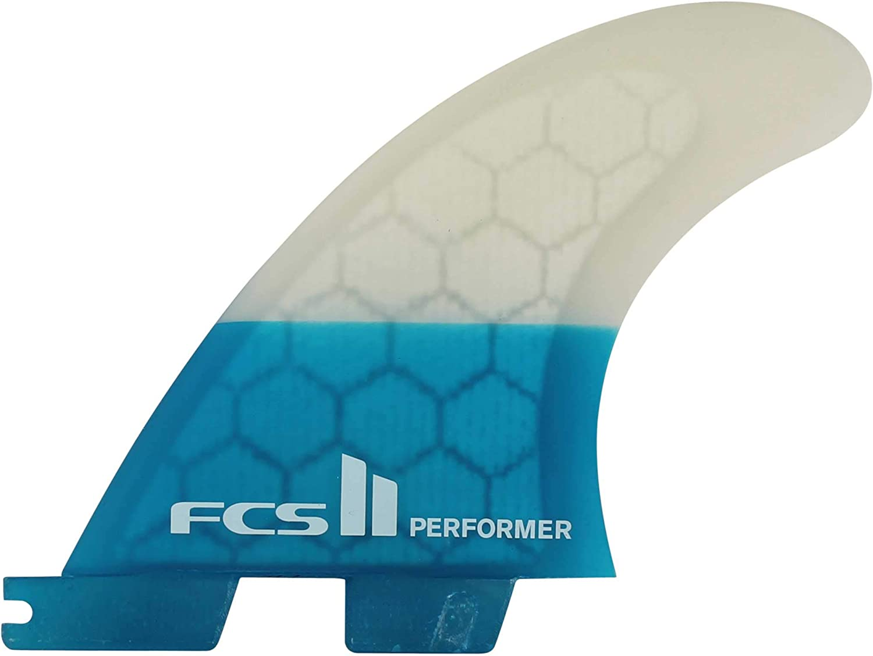 (Teal, Large)  FCS Unisex II Performer PC Tri Fin Set