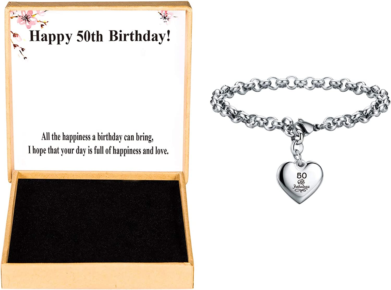 SANNYRA Happy Birthday Gifts Bracelet Brace Heart Alphabet Price reduction Charm Max 61% OFF