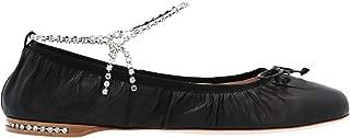 Miu Miu Luxury Fashion Womens 5F916CF005038F0002 Black Flats   Spring Summer 20
