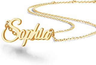 Custom Name Necklace, 18K Gold Plated Nameplate...