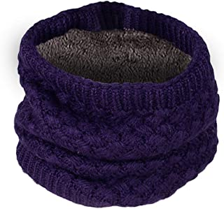 Clearance Lovers Scarf DEATU Winter Solid Gradient Warm Knit Double Ring Scarf Shawl Hot Sale