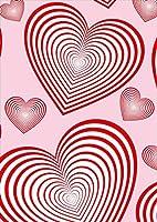 igsticker ポスター ウォールステッカー シール式ステッカー 飾り 841×1189㎜ A0 写真 フォト 壁 インテリア おしゃれ 剥がせる wall sticker poster 003933 ラブリー ハート ピンク 赤