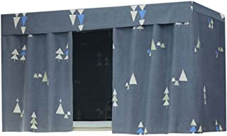 FANCY PUMPKIN Stylish Canopy Bed Curtains Bunk Bed Curtain Student Dormitory Shading Cloth for Single Bed, C-03