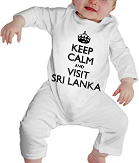 A1BY-5US Newborn Infant Baby Girls Boys Bodysuits Keep Calm and Visit Sri Lanka Cotton Long Sleeve Jumpsuit
