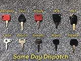 Baggerschlüssel, Pflanzmaschinen-Schlüssel-Set (10 Tasten) Baggerschlüssel, Traktorschlüssel,...