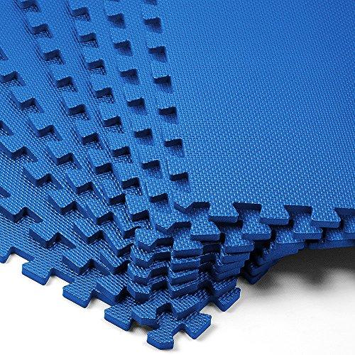 Deuba 8er Set Bodenschutzmatte 45x45x1cm Puzzlematte 1,62m² Schaumstoff Poolmatte Fitness Matte Fitnessmatte Bodenmatte