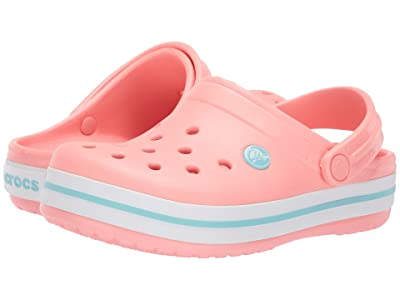 Crocs Kids Crocband Clog (Toddler/Little Kid) (Melon/Ice Blue) Kids Shoes