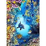 ZSLLO 3D Anime Wallpaper 3D unterwasserwelt Dekoration für kinderzimmer Boden Aufkleber wandaufkleber Schlafzimmer Wohnzimmer Bad wasserdicht selbstklebend Wallpaper (Size : 120cm*150cm)