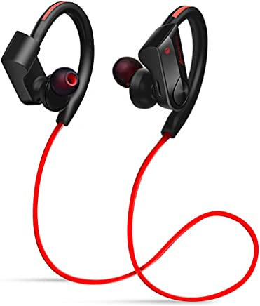 Amendo ブルートゥース イヤホン Hi-Fi高音質 重低音 Bluetooth イヤホン 12時間音楽再生 人間工学設計 ハンズフリー通話 日本語説明書付き IPX6防水 iPhone/Android適用 Siri対応 (レッド) …