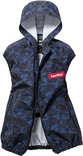 [WinDo]空調服(服のみ)新商品 ポリ100% ベストパーカー カモフラ 綿タッチ 薄い 軽い しなやか 楽らく電池操作ポケット付 W1291