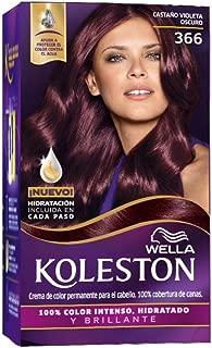 Wella Koleston Coloracion Permanente en Crema, 366 Castaño Violeta Oscuro