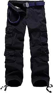 Thicken Mens Winter Fleece Lined Cargo Pant Windproof Outdoor Work Pants