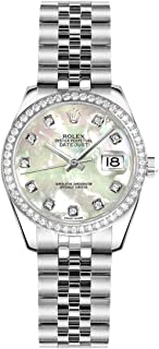 Lady-Datejust 26 Mother of Pearl Dial Diamond Women's Watch 179384