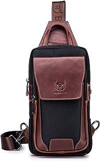 Genuine Leather Sling Bag Waterproof Mens Croddbody Bag with Top-handle Small Hiking Backpack XB-9X