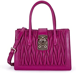 Luxury Fashion | Miu Miu Womens 5BA141N88F0592 Purple Handbag | Fall Winter 19