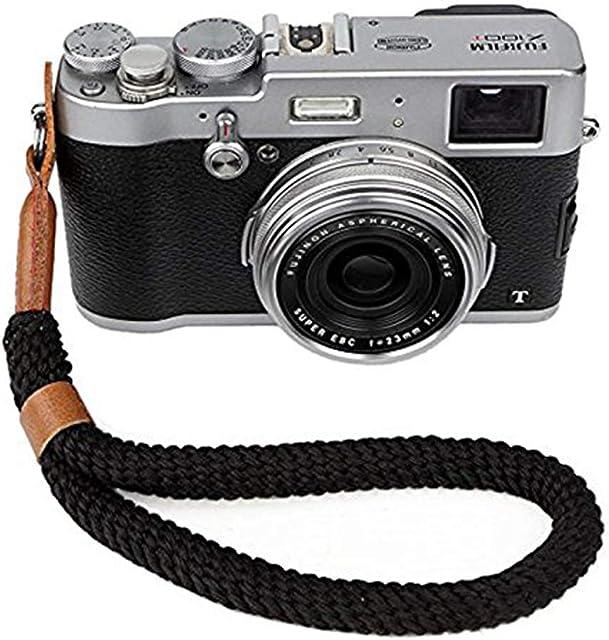 Cámara Digital Correa de Muñeca (23CM) Brazalete Hecho a Mano Algodón Suave Cámara Correa para Leica Canon Nikon Fuji Olympus Lumix Sony