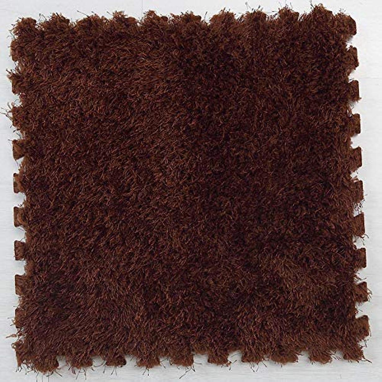 有能なキッチン出費ジョイントマット パズルマット 大判 30×30×1.0cm 10枚 カラー ズレない 子供部屋 衝撃を吸収し 洗える おくだけ吸着 防音 タイルカーペット 軽量 抗菌?防ダニ加工 ベビー 赤ちゃん 床暖房対応 ブラウン