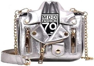 Women'S Bag Pu Leather Shoulder Messenger Bag Chain Crossbody Jacket Bags