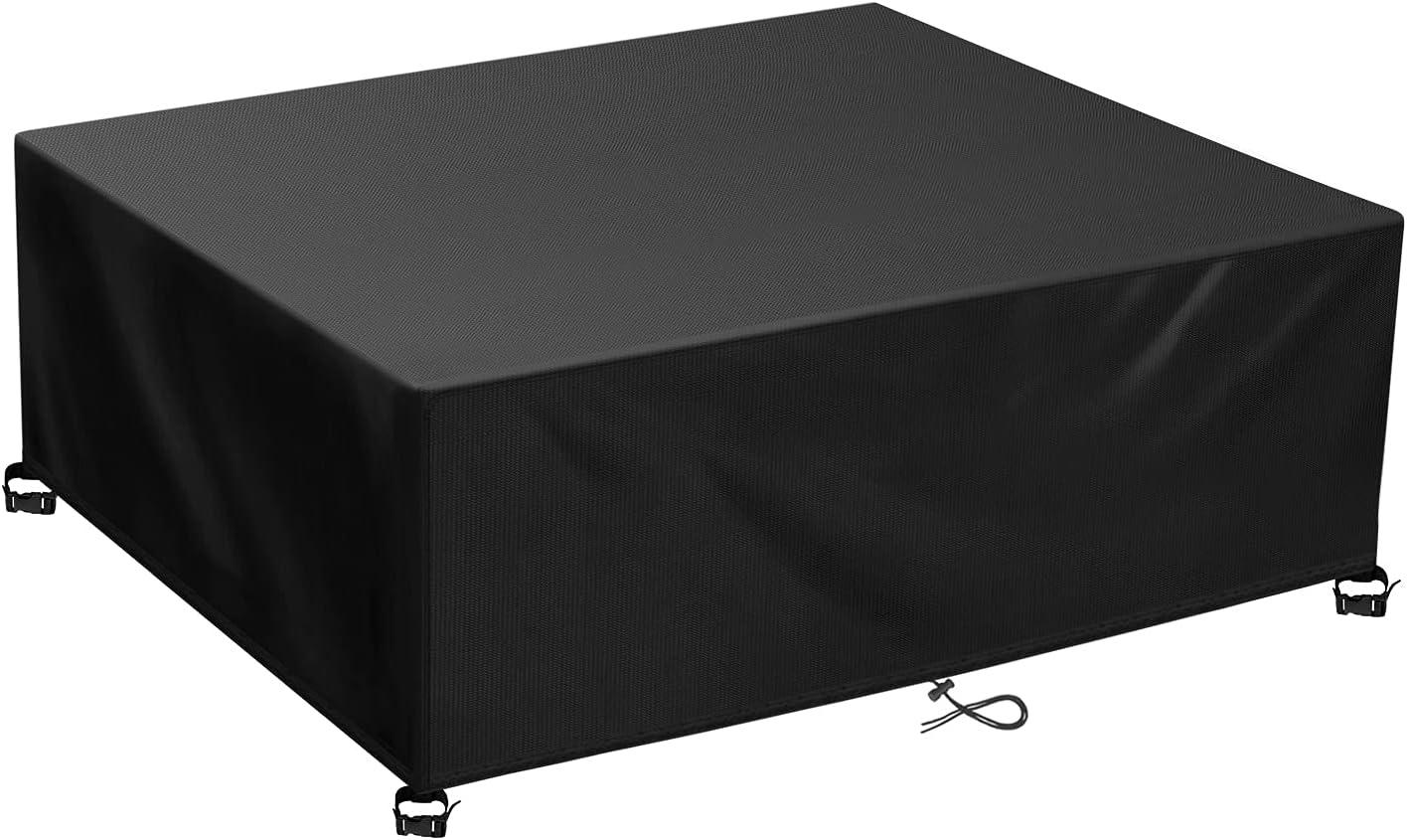 TAOCOCO Funda para Muebles de Jardín Impermeable, protección contra el Polvo y los Rayos UV, Cubierta de Mesa y Silla para Muebles de jardín (123x123x74 cm)