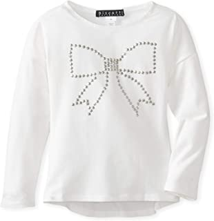 Biscotti Girls' School of Rock Embellished Bow Long-Sleeve Tee, Ivory, Size 16
