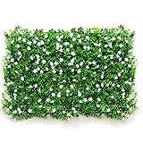 NHK-MX Siepe Artificiale Design Creativo,Decorazione paesaggistica Privacy Pannelli dello Schermo,Flower Artificiale Falso Recinzione Tappetino (Color : White, Size : 40 * 60cm)