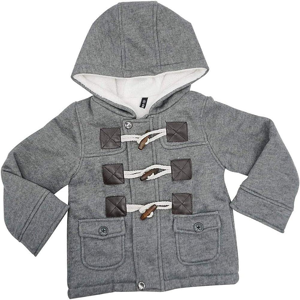 Ekaliy Baby Boys Girls Winter Fleece Coats Infant Toddler Kids Jackets with Hoodies
