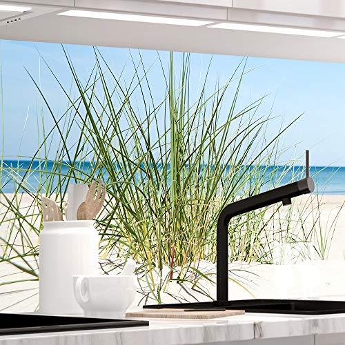 StickerProfis Küchenrückwand selbstklebend - DÜNENBLICK - 1.5mm, Versteift, alle Untergründe, Hart PET Material, Premium 60 x 220cm